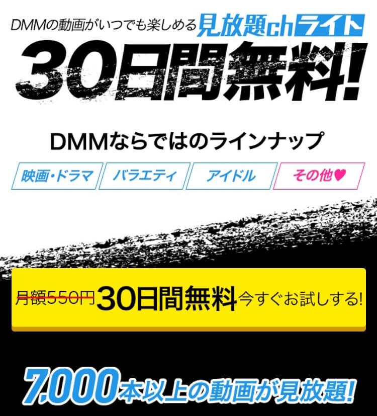 DMM見放題chライトの登録画面