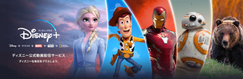 Disney+ (ディズニープラス)フッター画像